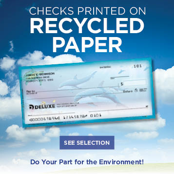 Support the environment - Checks on recycled paper