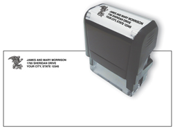 Self inking Name and Address stamp with Symbol or Monogram