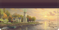 Thomas Kinkade Leather checkbook cover